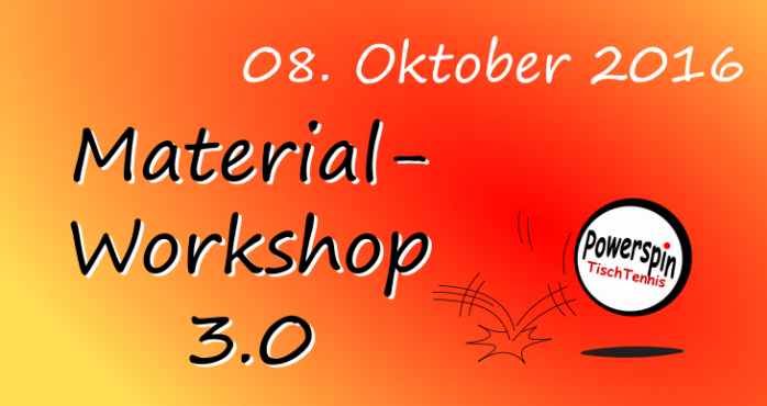 Material Workshop 3.0 am 08.10.2016