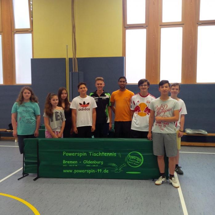TURA Bremen dankt Powerspin Tischtennis
