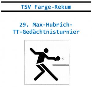 29. Max-Hubrich-TT-Gedächtnisturnier