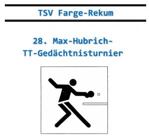 28. Max-Hubrich-TT-Gedächtnisturnier