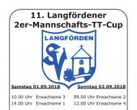 11. Langfördener 2er-Mannschafts-TT-Cup