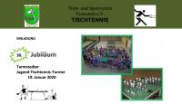 30. Tarmstedter Jugend-TT-Turnier am 19.01.2020