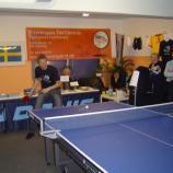 Dimitrij Ovtcharov und Jörgen Persson zeigen ihr Können